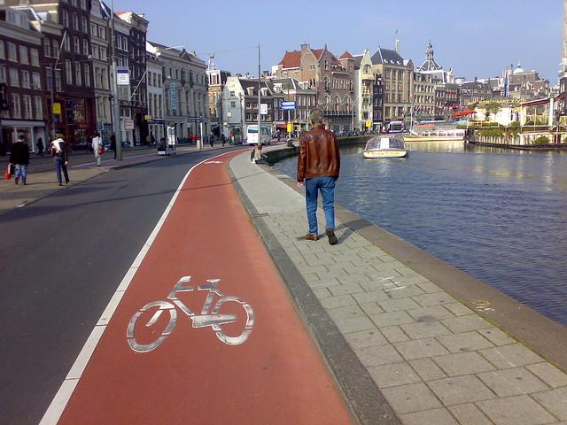 Amsterdam Muntplein Bicycle Lane Arsenia And William