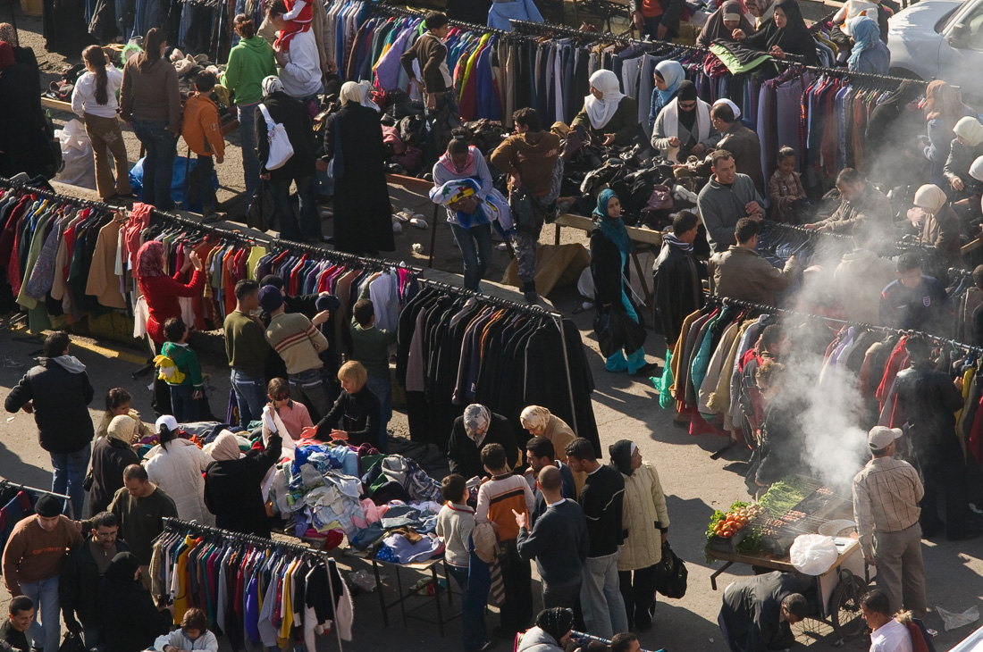 outdoor market in Amman, Jordan