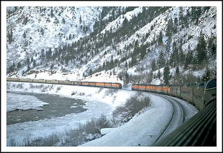 California Zephyrs passing in the canyon - 1968