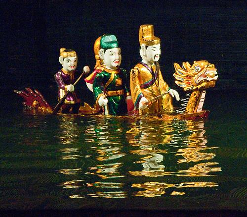 king le loi  thang long water puppet theatre  hanoi