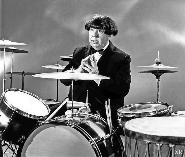 ... Alfred Hitchcock as a Beatle!