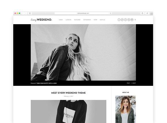 Every Weekend v1.0 - A Blog & Shop Theme