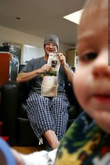 sequoia walks into grandpa jeff displaying new gift …