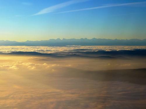 Fog over the Swiss Plateau