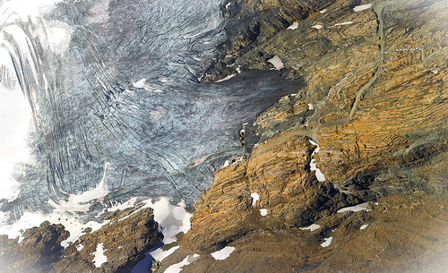 Meeting of Ice and Rock - Delphine Glacier