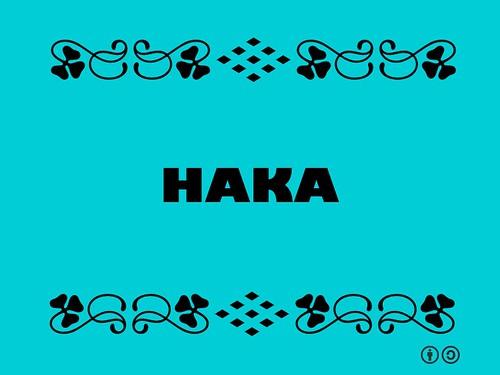 Buzzword Bingo: Haka