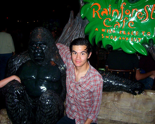 Aaron with a gorilla
