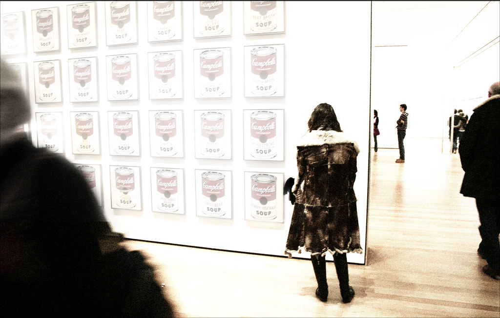 MoMA - Girl Contemplating Warhol's Soup