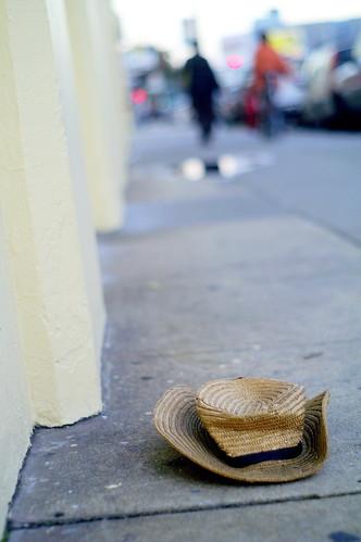 flattened hat