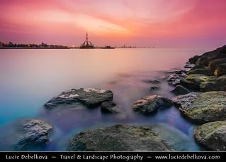 Kuwait - Sunset Skyline from Salmiya