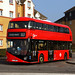 New route, first day of service; Go Ahead Blue Triangle LT881, LTZ 1881, on route EL3 at Barking Reach by Drake's Bus Photographs