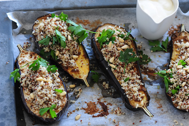 6 Healthy Ideas for Aubergine (Eggplant)+ Spiced Eggplant with Yoghurt & Quinoa | Stonesoup