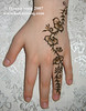 Simple henna on Mariam for Eid A beautifully simple