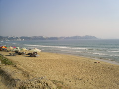 Playa Miramar en Manzanillo, Colima, Mexico