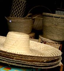 furniture, yellow, wicker, basket,