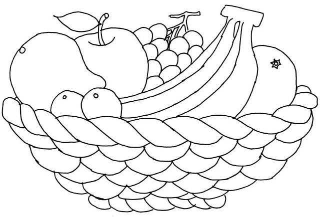 fruit basket coloring pages printable - photo#4