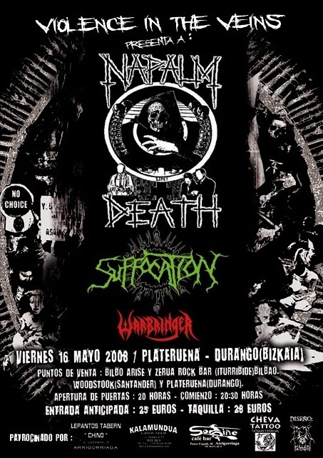 Napalm Death+Suffocation+Warminger