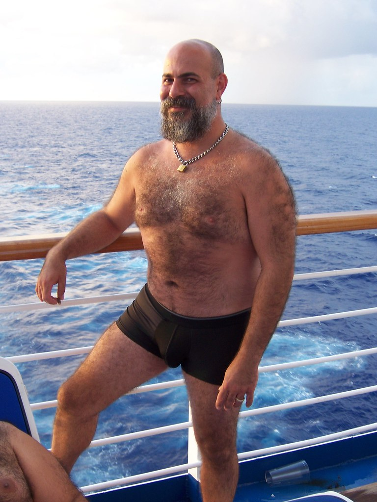 hairy men bear