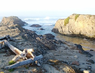 Waves lapping on the shore at Glass Beach near Fort Bragg, CA - glassbeach11