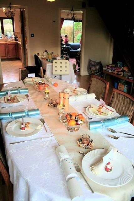 Christmas table spread