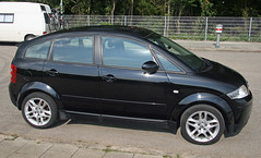 automobile, wheel, supermini, vehicle, city car, audi a2, compact car, land vehicle,