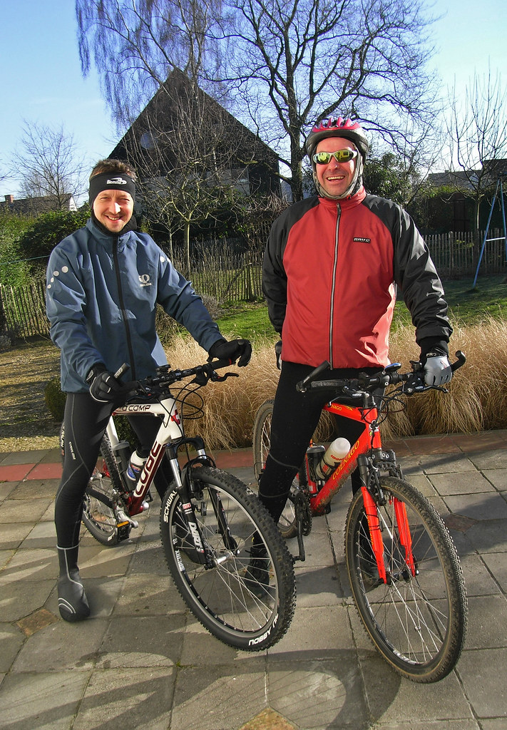 Jeroen and Myself On Our Mountain Bikes
