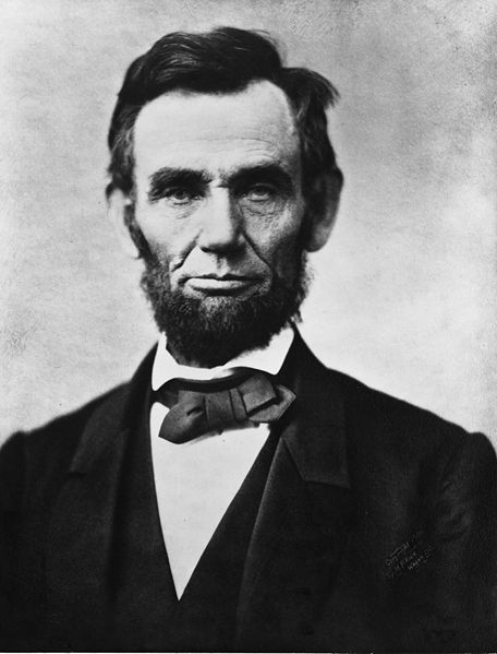 Abraham Lincoln - head & shoulders portrait from Flickr via Wylio