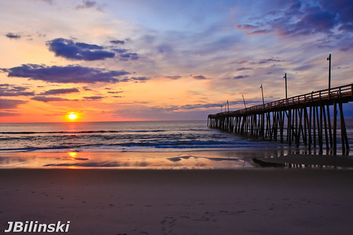 sunrise pier north carolina outerbanks obx rodanthe