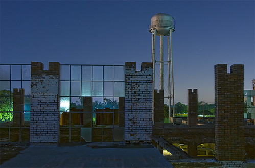 mill abandoned night ruins texas watertower cotton mckinney