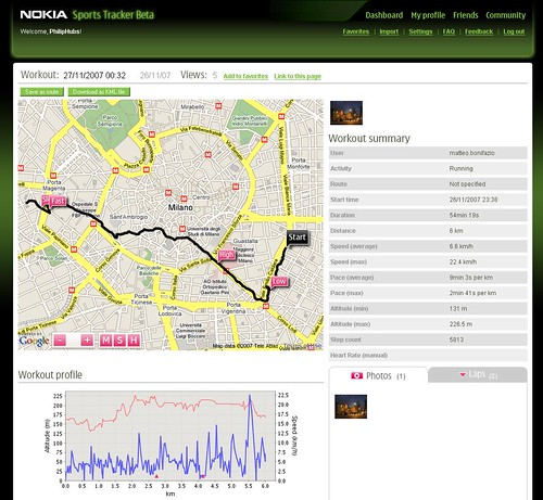 sports tracker  gps  registro de rutas  tracks para tu Nokia 5800 Touch Nokia 5300