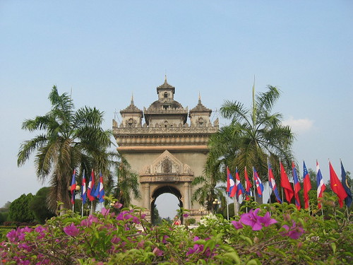 Charlotte Marillet's photo of the Arc de Triomphe in Vientiane.