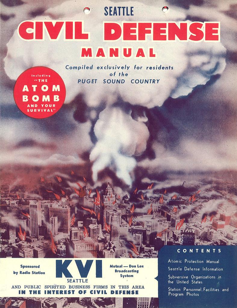Seattle Civil Defense Manual - sponsored by radio station KVI - Seattle, Washington U.S.A. - 1955