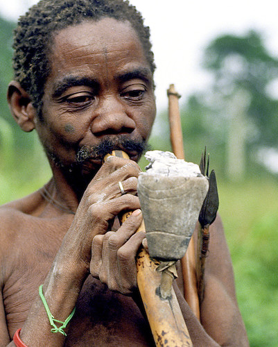 A member of the Pygmee tribe. Source: flickr/McMarcLouwes http://www.flickr.com/photos/marclouwes/2462757090/in/photostream/