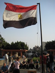 Egyptian flag - Downtown Cairo