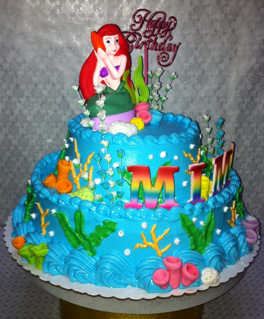 Mimas Little Mermaid Birthday Cake - a photo on Flickriver