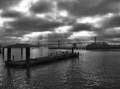 Bay Bridge from the Embarcadero, SF, CA