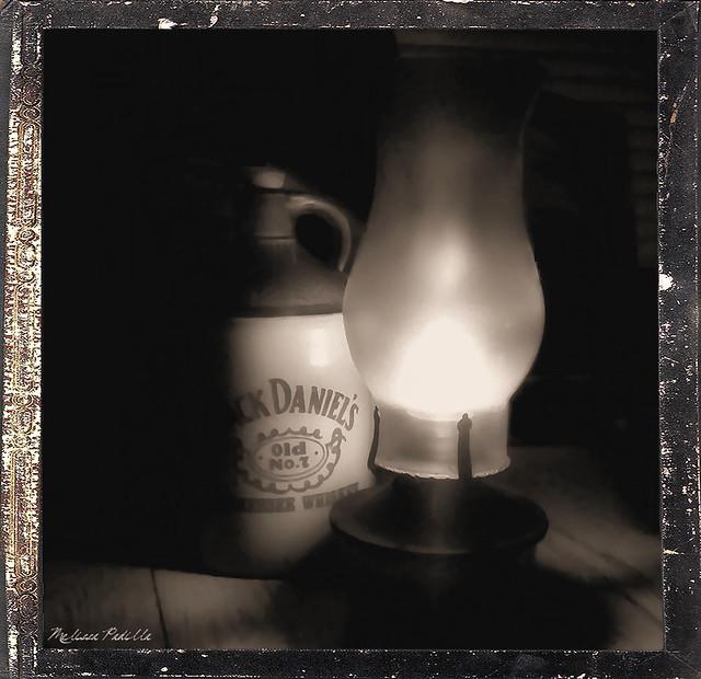 Old Jack Daniel's Jug & Lantern