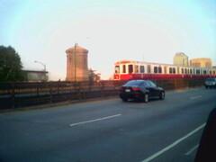 Red line on Longfellow Bridge