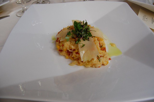 Saffron Vegetable Risotto (roasted corn, sun-dried tomatoes, grilled ...