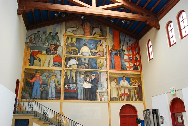 Diego rivera mural sf art institute flickr photo sharing for Diego rivera mural san francisco art institute