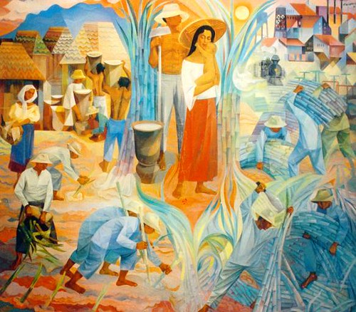 Manansala sugar cane harvest flickr photo sharing for Ano ang mural painting