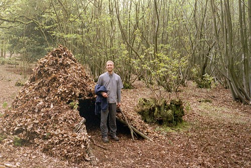 Bushcraft shelter completed