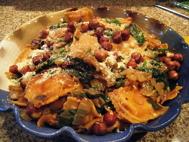 Hazelnut & Chard Ravioli Salad | Another winner from Heidi S ...