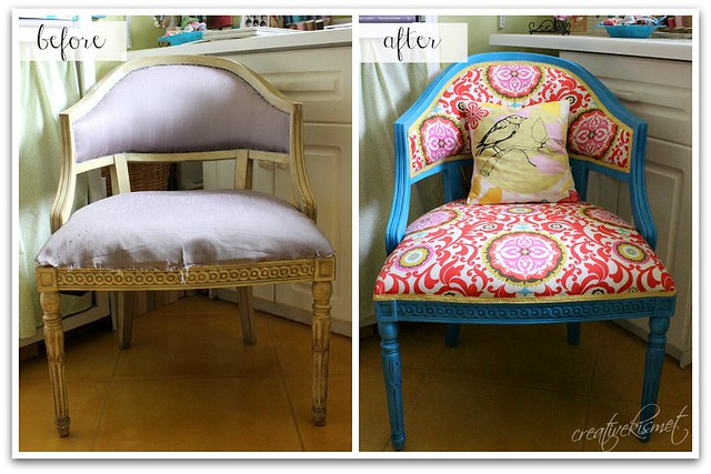 before after chair makeover
