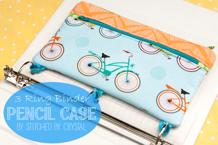 STITCHED by Crystal: Tutorial: 3 Ring Binder Pencil Case