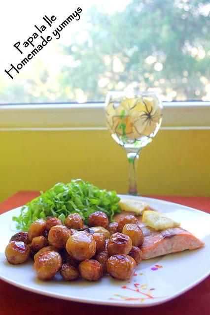 Somon la cuptor, cartofi cu rozmarin si salata (7)
