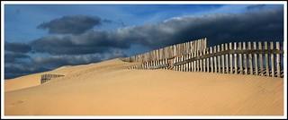 Imagen de Playa de la Cortadura cerca de Cádiz. españa beach playa arena nubes cadiz duna cádiz valla