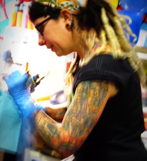 tattoo artist rachel true blue tattoo flickr photo