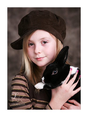 A girl and her Bunny