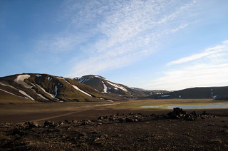 on the road to landmannalaugar